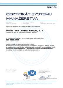 certifikát systému manažérstva