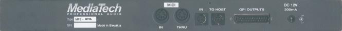 Programovateľný GPI Interface / Fader Start pre digitálny mixážny pult YAMAHA M7CL
