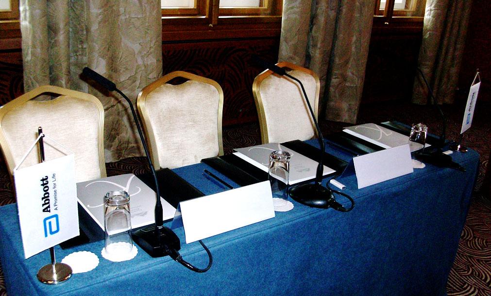 konferenčný systém - hotel kempinski
