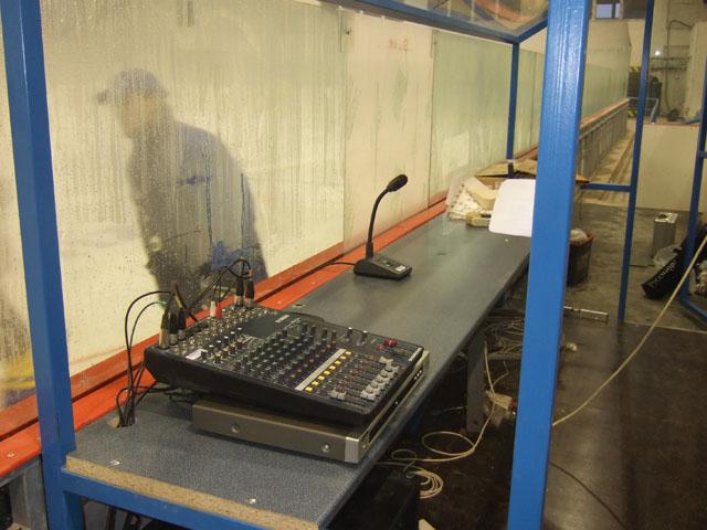 zimný štadión Púchov - mikrofóny