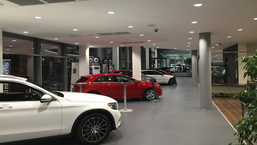 Mercedes signage