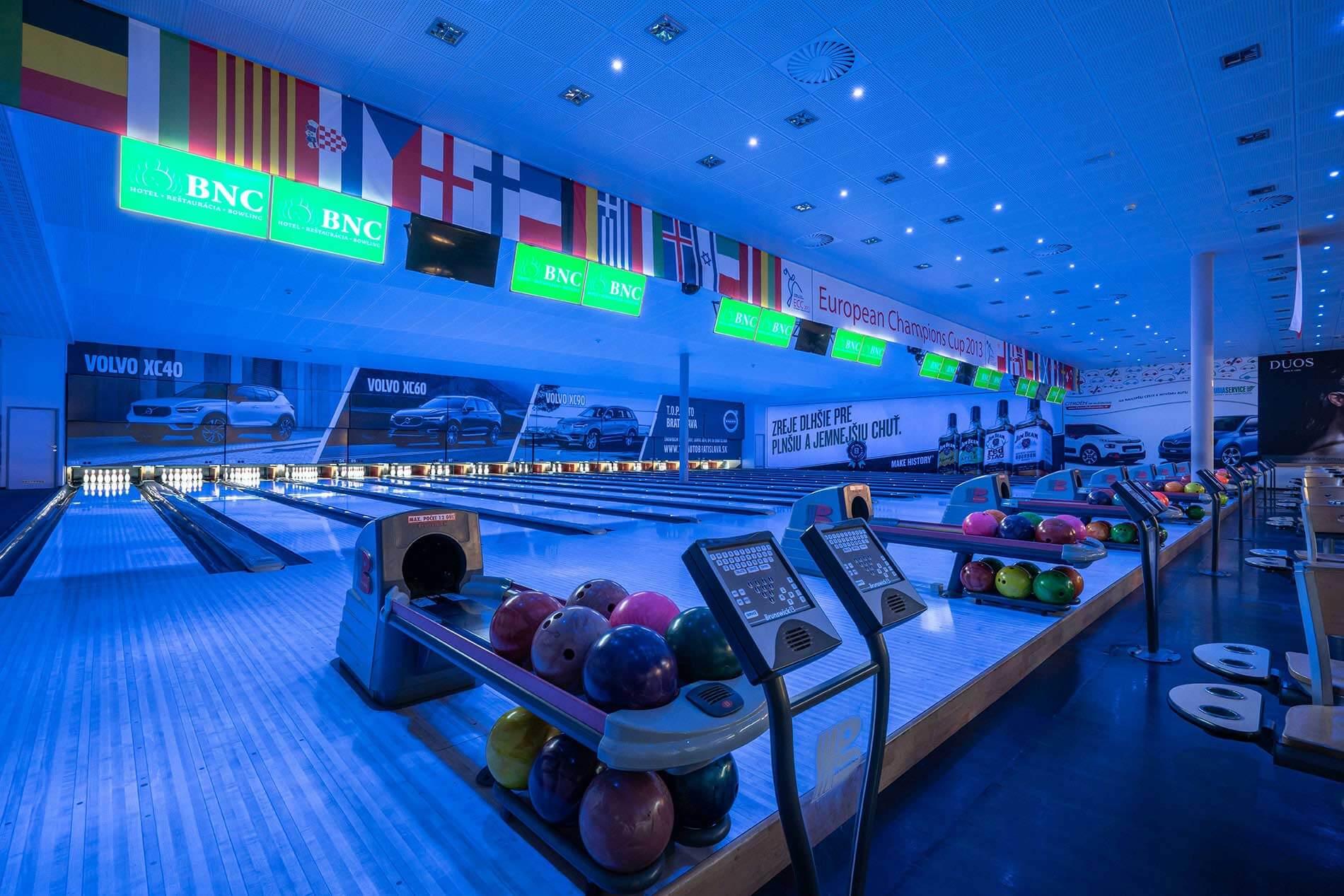 Narodne bowlingove centrum, ozvucenie, akustika a videoprojekcia - MediaTech